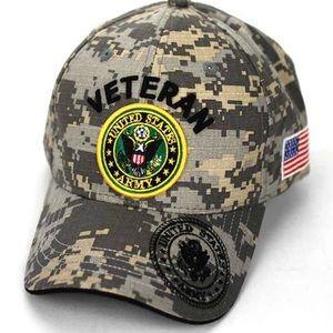 Veteran Camo Hat Cap